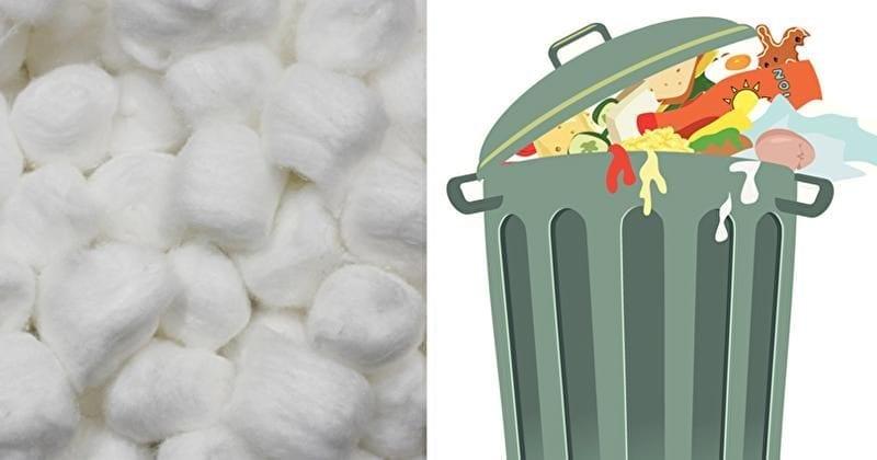 Photo of Spazzatura: Metti una pallina di cotone nella pattumiera stop agli odori