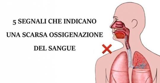 ossigeno nel sangue
