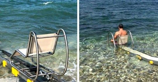 Photo of Disabilità: La passerella che aiuta le persone disabili ad andare in acqua