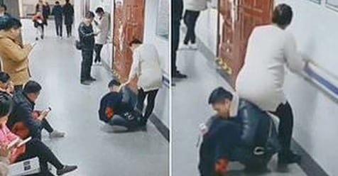 Photo of Cina: Uomo aiuta la moglie incinta e diventa una sedia