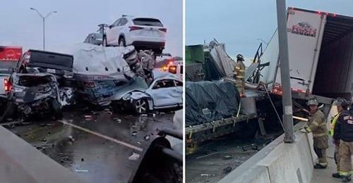 Mega tamponamento, almeno 100 auto coinvolte: morte tre persone, molti feriti